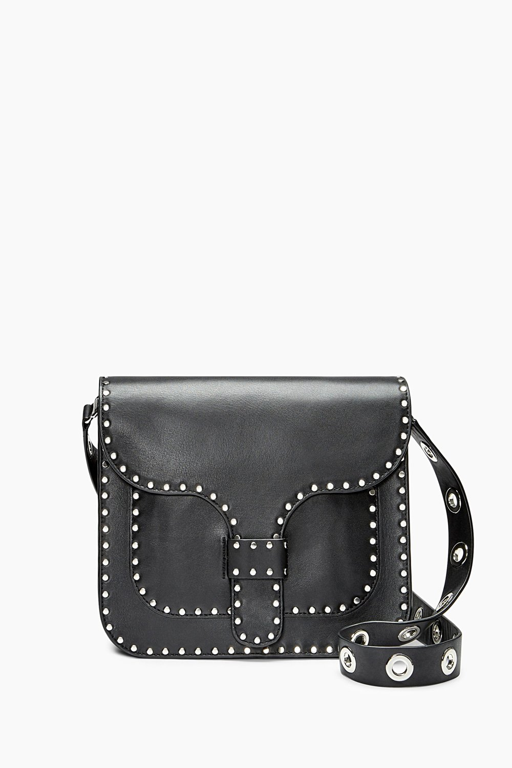 fashion newest lace up in REBECCA MINKOFF Black Midnighter Large Messenger Bag $345 NEW ...