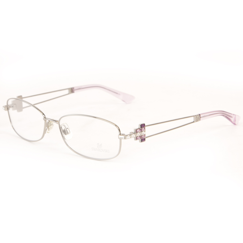 Swarovski Women\'s Crystal Accent Metal Eyeglass Frames Sw5019 014 ...