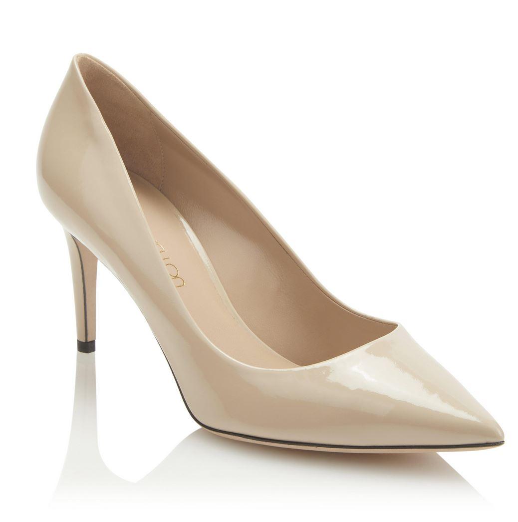 London Rebel Mami Block Heels - Nude - Number One Shoes