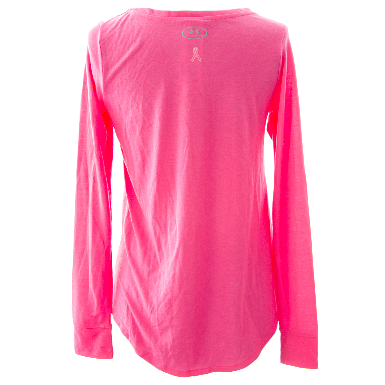 Under Armour Power in Pink Women s Long Sleeve Ribbon T-Shirt ... d3e9e361c0